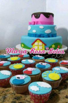 Peppa pig cake By Maria Rosa Bolos