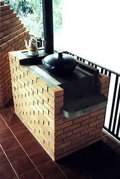 √ 27 Most Favourite Outdoor Kitchen Ideas That Will Impress Your Friends Outdoor Kitchen Cabinets, Diy Outdoor Kitchen, Outdoor Oven, Outdoor Decor, Cob House Plans, Brick Bbq, Rustic Patio, Built In Grill, Diy Kitchen Storage