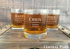 Groomsmen Gift Personalized Whiskey Glasses by EverythingDecorated