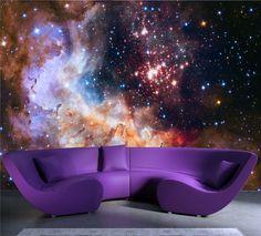 3D Gorgeous Galaxy photo wallpaper Custom Silk Wallpaper Starry Night Wall Mural Art Painting Hoom decor Kid Bedroom Living room
