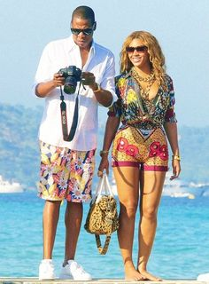 Beyonce and Jay Z. Love these prints.