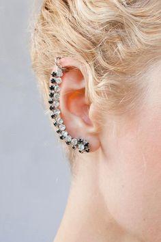 DIY  Rhinestone Ear Cuff
