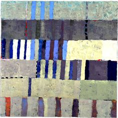 Kathleen Waterloo,   Fleet V  2004 Encaustic on Panel 48x48""