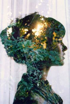 Double exposure photography. #nature #girl #photography #jablonskimarketing