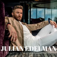 New England Patriots wide receiver and Super Bowl MVP Julian Edelman is hungrier than ever. Julian Edelman, Edelman Patriots, Babe, New England Patriots Football, Beautiful Men Faces, New Mercedes, Boston Sports, National Football League, American Football