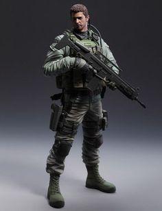 """Estatua Resident Evil 6. Chris Redfield 24 cm. Capcom Preciosa estatua de Chris Redfield de 24 cm uno de los principales protagonistas del popular videojuego """"Resident Evil"""", en este caso de la parte 6. Fabricada en PVC hará las delicias de todos los fans y seguidores."""