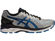 Asics Mens Gel Kayano 23 Size 12 D (9345-Silver/Imperial/Black)