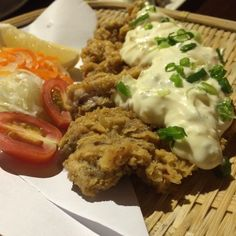 Japanese fried chicken with onion mayonnaise sauce