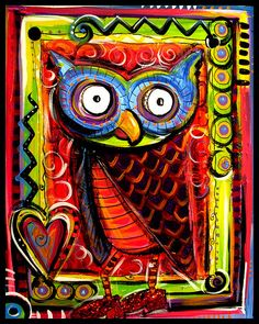 I love owls! - Great idea for SQ 1 Art
