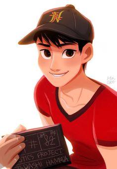 big hero 6 y Best Disney Animated Movies, Disney Pixar Movies, Disney And Dreamworks, Disney Style, Disney Art, Hiro Big Hero 6, Character Art, Character Design, Tadashi Hamada
