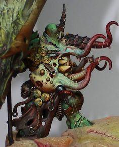 Warhammer Paint, Warhammer 40k Art, Warhammer Models, Warhammer 40k Miniatures, Warhammer Fantasy, Fantasy Model, Fantasy Art, Minis, Chaos Daemons