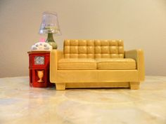 Fisher Price Doll House Couch with Working Light and Radio