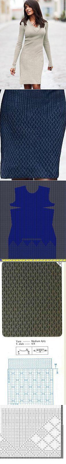 Ромбовый силуэт от Виктории Сикрет Beutiful knitted dress