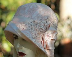 Womens Hats 1920s Tea Party Hats Elegant Lace Hats by GailsHats