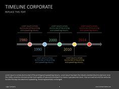 Timeline corporate slide #presentation #powerpoint #slidedesign