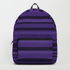 Buy Plum Purple Stripes Backpack by denidesigns. Worldwide shipping available at Society6.com. Just one of millions of high quality products available. Striped Backpack, Backpacks For Sale, D Craft, Plum Purple, Designer Backpacks, Online Marketing, One Size Fits All, Stripes, Unisex