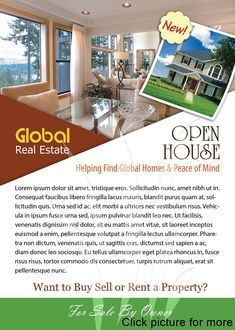 Open House Flyer Template Flyer Templates On Creative Market Real Estate Templates, Real Estate Flyer Template, Free Flyer Templates, Business Flyer Templates, Design Templates, Brochure Template, Open House Brochure, Free Flyer Design, Open House Invitation