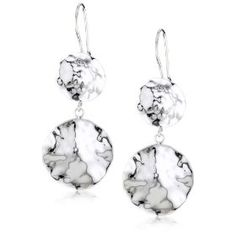 Zina Sterling Silver Sahara Collection Drop Disc Earrings $175