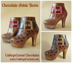 Funky ankle boots made from chocolate! from Cathryn Cariad Chocolates - www.CathrynCariad.com  Fashionable (and delicious!)