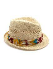 Chiffon Band Straw Fedora Hat :)