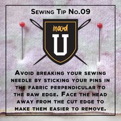 #MoodSewingTip how not to break your pins while sewing ..... #SewSafely