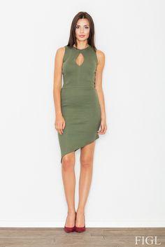 Sukienka M486 - odcienie jasnej zieleni