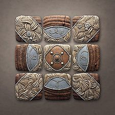 """Mountain Pattern by Christopher Gryder (Ceramic Wall Sculpture) (38"""" x 38"""")"""