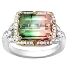 FREDERIC SAGE   Bi-Color Tourmaline Ring   {ʝυℓιє'ѕ đιåмσиđѕ&ρєåɾℓѕ}