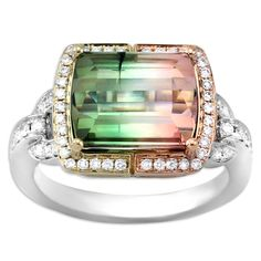 FREDERIC SAGE | Bi-Color Tourmaline Ring | {ʝυℓιє'ѕ đιåмσиđѕ&ρєåɾℓѕ}