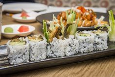 The best AYCE sushi in Toronto isn't so much food as it is a challenge. Raw fish fiends flock to these places to stuff themselves full of the maxim. Cobb Salad, The Best, Toronto, Goodies, Good Things, Eat, Ethnic Recipes, Restaurants