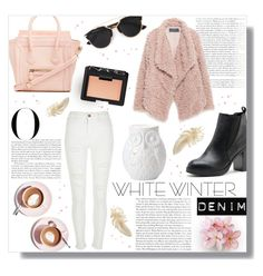 """On Trend: Winter White Denim"" by sabbbycat ❤ liked on Polyvore featuring Vanity Fair, Martha Stewart, DailyLook, NARS Cosmetics, Sole Society, Dot & Bo, River Island, Zara and Christian Dior"