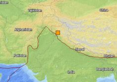 Location of the May 1 northern Indian earthquake. Image credit: USGS