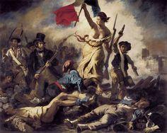 La liberté guidant le peuple d'Eugène Delacroix v