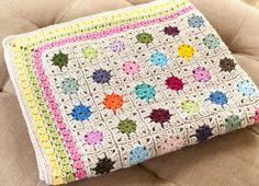 Cluster Burst Afghan Crochet Pattern #crochet #afghan #granny