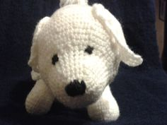 Bichon Frise dog toy crochet pattern by Motherhemwinkum on Etsy