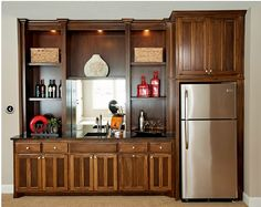 Custom Cabinets - Lakeside Cabinets and Woodworking Custom Home Bars, Bars For Home, Cabinet Makers, Custom Cabinets, Plymouth, Man Cave, Liquor Cabinet, Custom Design, Kitchen Cabinets