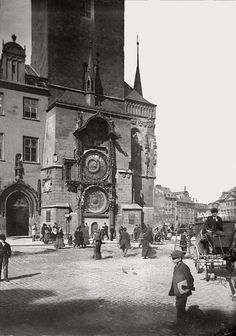František Krátký | At Old Town Astronomical Clock, ca 1890