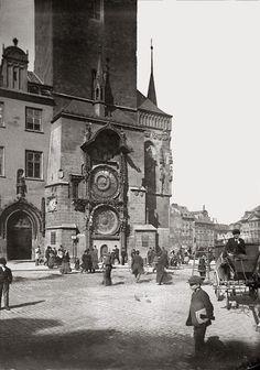 František Krátký | At Old Town Astronomical Clock, ca 1890