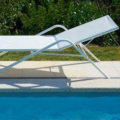 Transat aluminium Porto Vecchio #bain de #soleil #transat #fauteuil #outdoor #garden #folding #chair #sunbath #jardin #détente #mobilier de #jardin #extérieur #chaise #longue