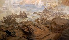 """Diorama """"Battle of the Dnieper""""  Liberation in October 1943"""