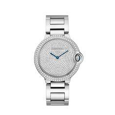 Ballon Bleu de Cartier watch 36 mm, 18K white gold, diamonds REF: WE902045 $82,000