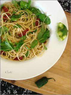 Spaghettis à la Roquette & au Citron Vert