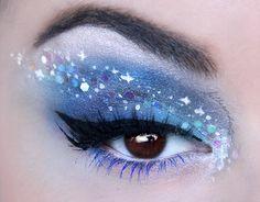 make up guide World Of Makeup make up glitter;make up brushes guide;make up samples; Eye Makeup Art, Fairy Makeup, Blue Eye Makeup, Glitter Makeup, Glitter Eyeshadow, Eyeshadow Makeup, Sparkle Makeup, Liquid Eyeshadow, Yellow Eyeshadow