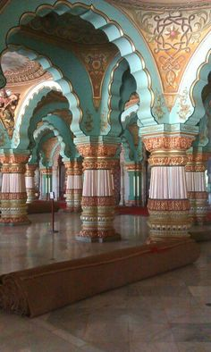 Mysore palace Beautiful Places In The World, Beautiful Space, Great Places, Indian Font, Mysore Palace, India Architecture, Lotus Art, A Whole New World, Colour Inspiration
