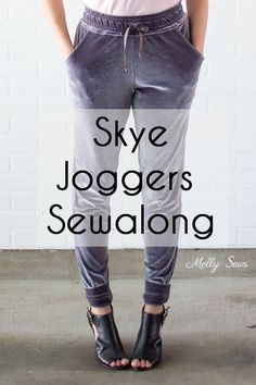 Latest Pictures sewing pants tutorial Popular Joggers Sewalong - Make the Blank Slate Patterns Skye Joggers Pattern Sewing Pants, Sewing Clothes, Doll Clothes, Diy Clothing, Clothing Patterns, Diy Jogger Pants, Beginner Sewing Patterns, Pdf Patterns, Sewing Tutorials