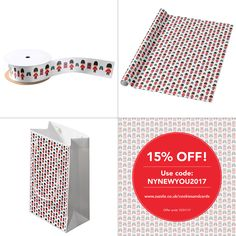 Last chance to get 15% off at https://www.zazzle.co.uk/cookiesandcards?rf=238821327010452393 Use Code: NYNEWYOU2017 #babygiftideas #giftwrap #ribbon #giftbags