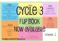 Cycle 3 Memory Flip Book (And Here We Go!)