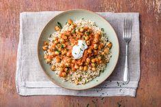 Chickpea Tikka Masala with basmati, yogurt and cilantro | HelloFresh Recipe