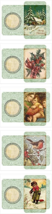 Lilac & Lavender: Vintage Christmas ~ gift card envelopes