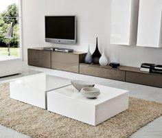 Venier Logico Evolution | wall system* Tv Cabinet Design, Pantry Design, Interior And Exterior, Interior Design, Tv Furniture, Living Spaces, Living Room, White Coffee, Center Table